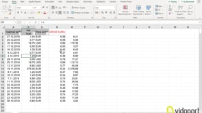 2019 Döviz Kurlarını Excel'e aktarma nasıl yapılır?