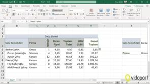 Verileri Yatay-Dikey ve Değer Olarak Yapıştırmak