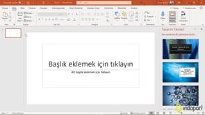 PowerPoint Ortamını Tanımak