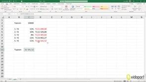 Excel'de GD ve GDPROGRAM İşlevlerini kullanımı